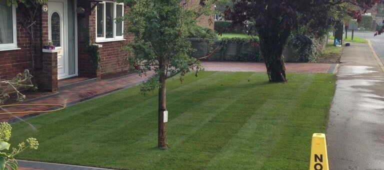 Driveway And New Lawn In Hemingford Grey