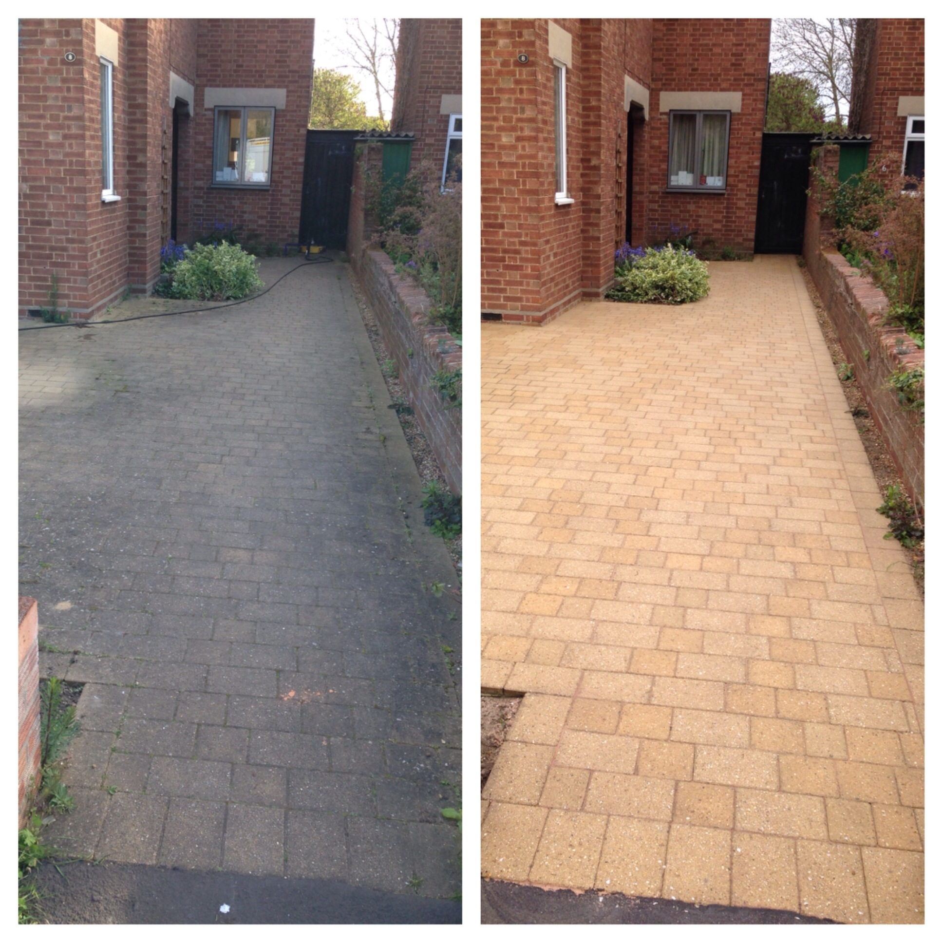 Driveway cleaning chesterton cambridge cambridge block for Best way to clean driveway